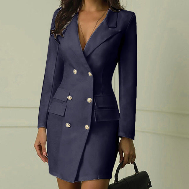 Ladies'  Office Double Breasted Dress