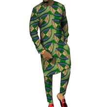Load image into Gallery viewer, Dashiki Print Long Shirt and Pants Combo