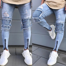 Load image into Gallery viewer, Men's Skinny Ripped Jeans