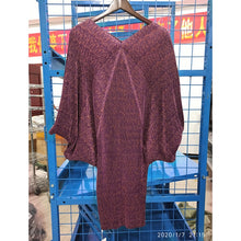 Load image into Gallery viewer, New Fashion Pleated Batwing Sleeve Big Size Dress