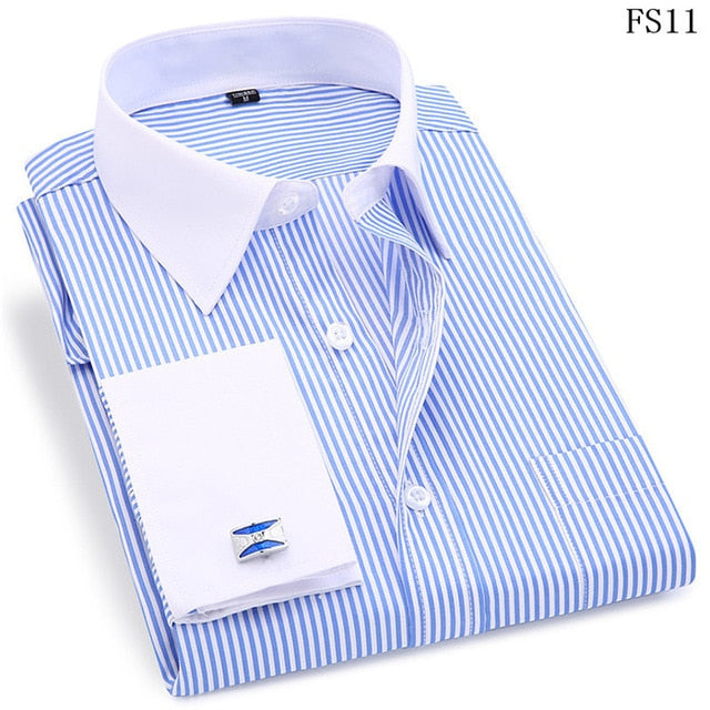 High Quality Striped Men's Long Sleeved Shirts