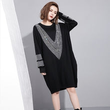 Load image into Gallery viewer, Ladies' Spring Long Sleeve Big Size Dress