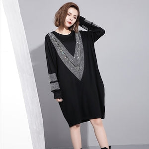 Ladies' Spring Long Sleeve Big Size Dress