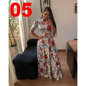 Spring Sashes Maxi Long Dresses S-5XL