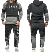Load image into Gallery viewer, Men's Sport Patchwork Hoodie Set