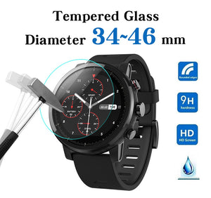 All Size Round Watch with Tempered Glass Screen