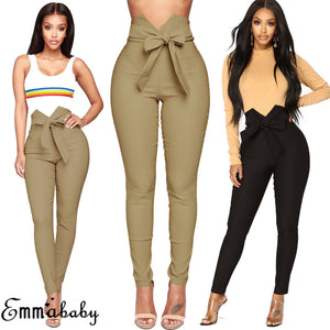 Women's Casual High Waist Skinny Stretch Pants