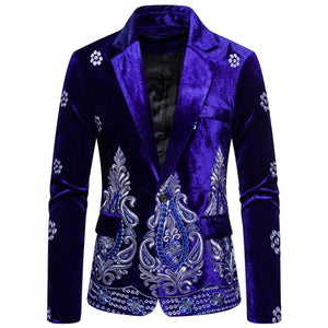 Men's Velvet Embroidered Jackets