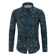Load image into Gallery viewer, Men's Silk Satin Floral Printed Shirts