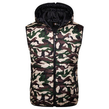 Load image into Gallery viewer, Men's Hooded Sleeveless Jacket