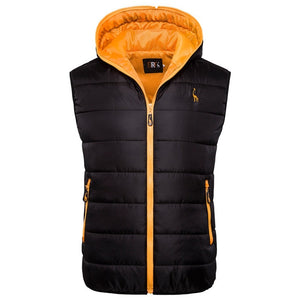 Men's Hooded Sleeveless Jacket