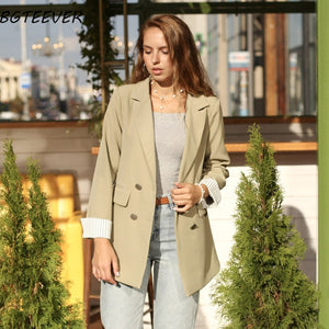 Casual Double Breasted Women's Jacket