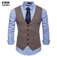Load image into Gallery viewer, Men's Formal Suit Waistcoat