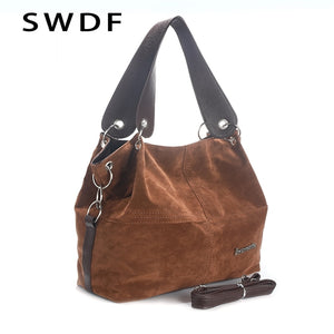 SWDF High Quality Soft Corduroy Tote Bag for Ladies