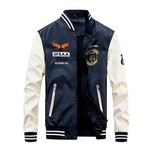Men's Leather Baseball Jackets