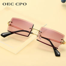 Load image into Gallery viewer, OEC CPO Fashion Rimless Rectangle Sunglasses for Women