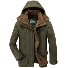 Load image into Gallery viewer, Thick Warm Male Hooded Casual Fleece Liner Parka