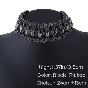 Luxury Crystal Rhinestone Collar Chocker for Women