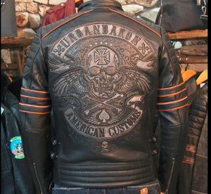 New Brand Plus Size Men's Skull Leather Jackets