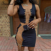Load image into Gallery viewer, Simenual Lace Up Bandage 2 Piece Sets