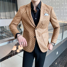 Load image into Gallery viewer, Men's British Style Printed Blazer