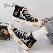 Load image into Gallery viewer, Women's High Top Canvas Sneakers