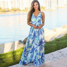 Load image into Gallery viewer, Women's Sling Floral Long Dresses
