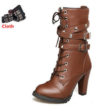 Load image into Gallery viewer, Ladies' High Heel Leather Boots