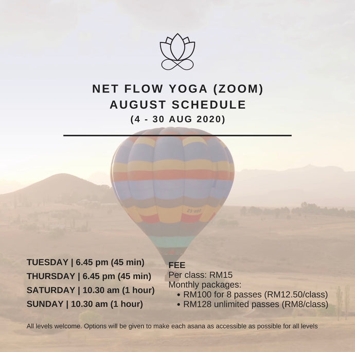 August Online Yoga Schedule