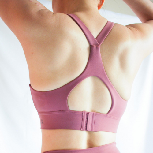 LUSH Series: Racer Back Hook Bra - Raspberry
