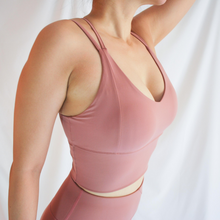 Load image into Gallery viewer, LOLA Long Line Bra - Dusty Rose