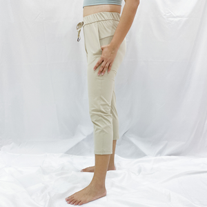 SERA Drawstring Relax Fit Leggings - Khaki
