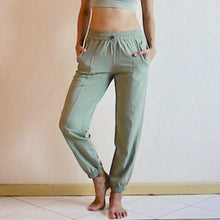 Load image into Gallery viewer, VENUS Relax Fit Pants: Moss Green