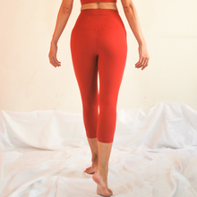 Load image into Gallery viewer, LUSH Series: Nude-Feel Capri Leggings - Crimson