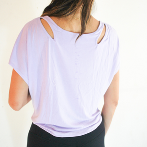 SANDY Shoulder Cut-Outs Top - Amethyst