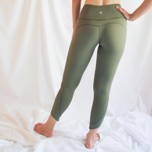 VIOLA Capri Leggings - Army Green