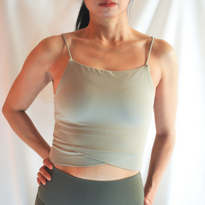 DANI Long Line Bra Top - Tea Green
