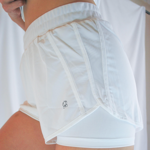ROXY Double Layer Shorts - White