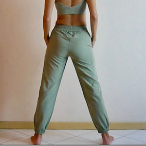VENUS Relax Fit Pants: Moss Green