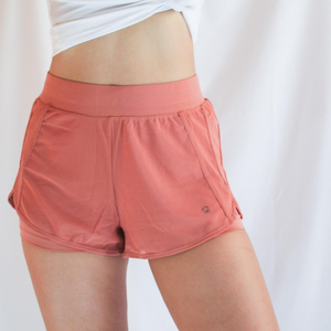 ROXY Double Layer Shorts - Coral