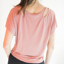 Load image into Gallery viewer, SANDY Shoulder Cut-Outs Top - Rusty Rose