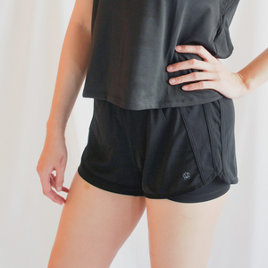 ROXY Double Layer Shorts - Black