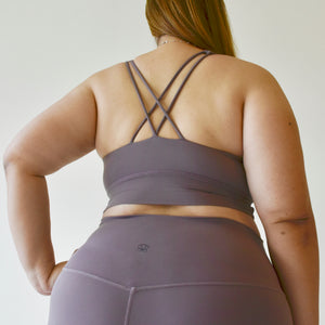 LUSH Series: Nude-Feel X-Back Bra - Lilac
