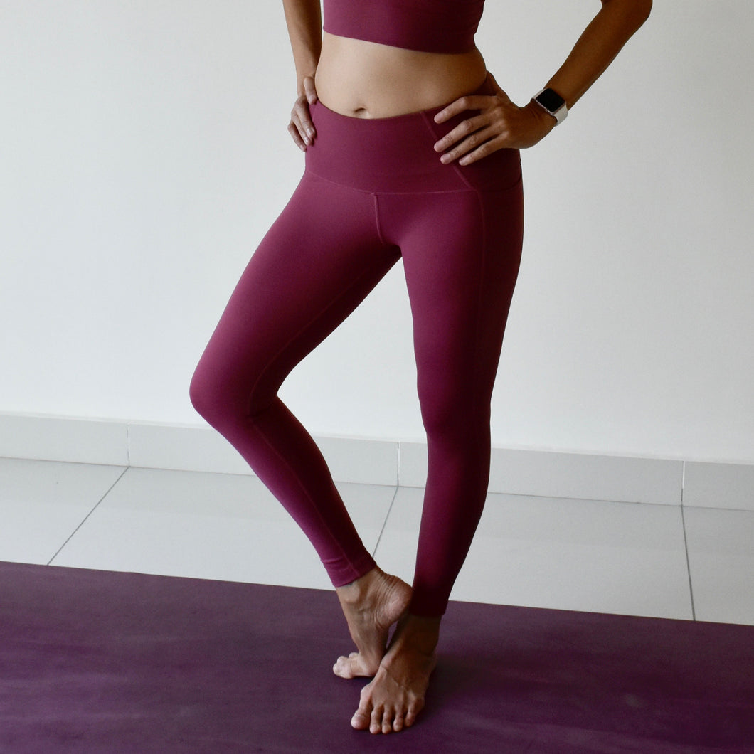 SCULPT Leggings: Raspberry