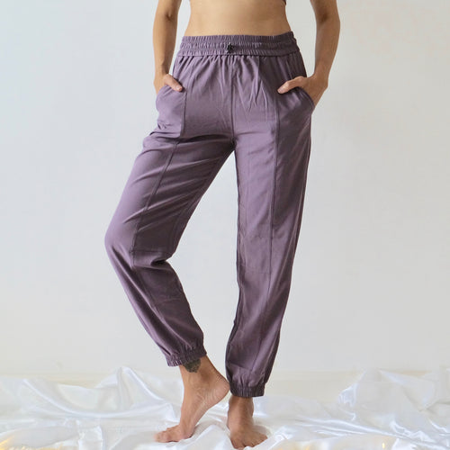 VENUS Relax Fit Pants: Lavender