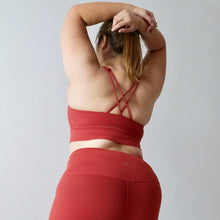 Load image into Gallery viewer, LUSH Series: Nude-Feel X-Back Bra - Crimson