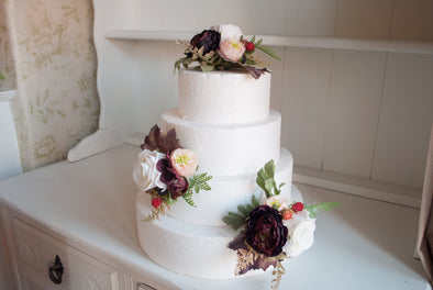 autumn wedding cake flowers