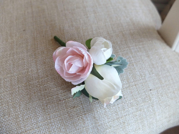wedding buttonhole pink