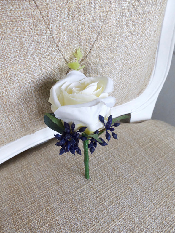 blue berries buttonhole