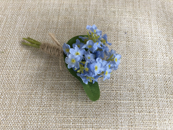 forget me not buttonhole